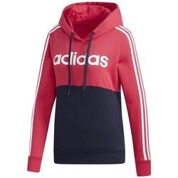 Clothing Women Sweaters adidas Originals Essentials Colorblock Fleece Hoodie Black, Red