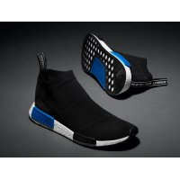Shoes Hi top trainers adidas Originals NMD City Sock Primeknit Core Black/Core Black-Lust Blue