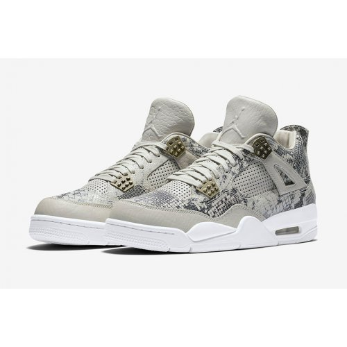 Shoes Hi top trainers Nike Air Jordan 4 Pinnacle Snakeskin Light Bone/White-Pure Platinum-Wolf Grey