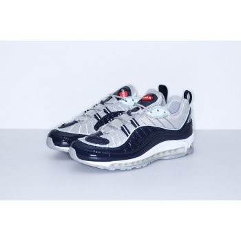 Shoes Low top trainers Nike Air Max 98 x Supreme Navy Obsidian/Obsidian-Reflect Silver-White