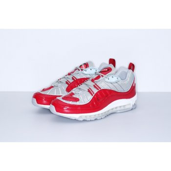 Shoes Low top trainers Nike Air Max 98 x Supreme Red Red/Reflect Silver-White/Varsity Red