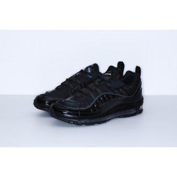 Shoes Low top trainers Nike Air Max 98 x Supreme Black Black/Black-Black