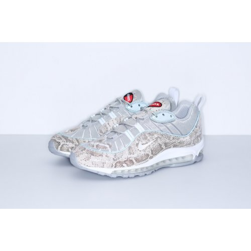 Shoes Low top trainers Nike Air Max 98 x Supreme Snakeskin Cream/Reflect Silver/White/White