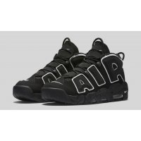 Shoes Hi top trainers Nike Air More Utempo Black Black/White