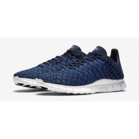 Shoes Low top trainers Nike Free Inneva Woven Granite Navy Fountain Blue/Granite-Summit White