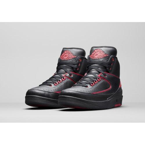 Shoes Hi top trainers Nike Air Jordan 2 Alternate 87 Black/Gym Red-Black
