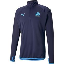 Clothing Men Track tops Puma Sweat OM Warmup bleu foncé/bleu azur