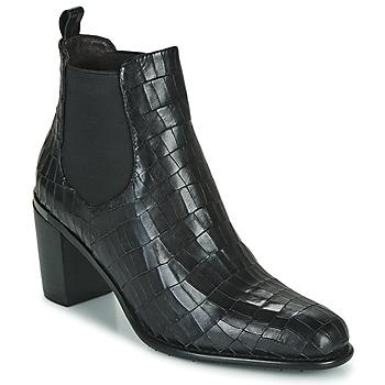 Shoes Women Ankle boots Adige FANNY V5 CROCO NOIR Black
