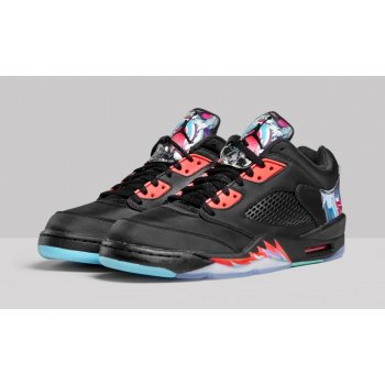 Shoes Low top trainers Nike Air Jordan 5 Low China Black/Bright Crimson-Beta Blue-Black