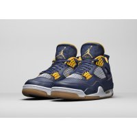 Shoes Hi top trainers Nike Air Jordan 4 Dunk From Above Midnight Navy/Yellow-White-Gum