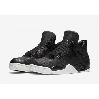 Shoes Hi top trainers Nike Air Jordan 4 Pinnacle Pony Hair Black/Black-Sail