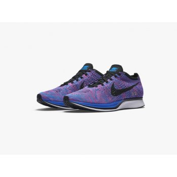 Shoes Low top trainers Nike Flyknit Racer Game Royal Game Royal/Black-Pink Flash