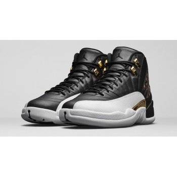 Shoes Hi top trainers Nike Air Jordan 12 Wings Black/Metallic Gold-White
