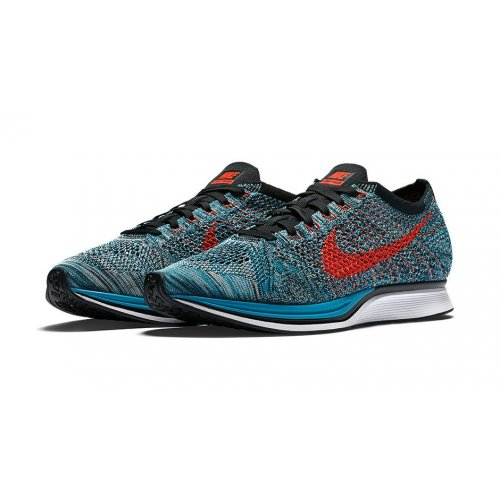 Shoes Low top trainers Nike Flyknit Racer Neo Turquoise Neo Turquoise/Bright Crimson-Glacier Ice