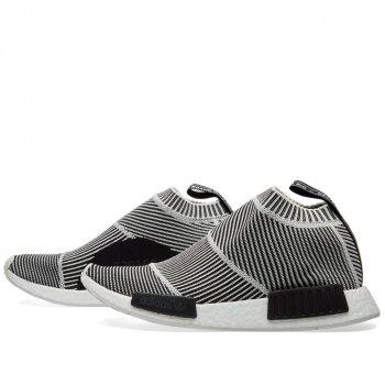 Shoes Hi top trainers adidas Originals NMD City Sock Primeknit B/W Core Black/Vintage White S15-St/Ftwr White