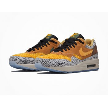 Shoes Low top trainers Nike Air Max 1 Atmos Safari Flax/Kumquat-Chestnut