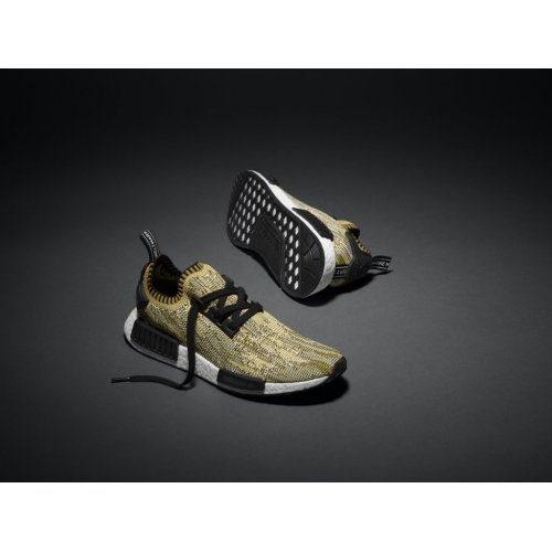 Shoes Low top trainers adidas Originals NMD Runner Yellow Camo  Yellow/Black