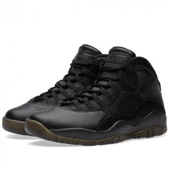 Shoes Hi top trainers Nike Air Jordan 10 x OVO Black Black/Black-Metallic Gold
