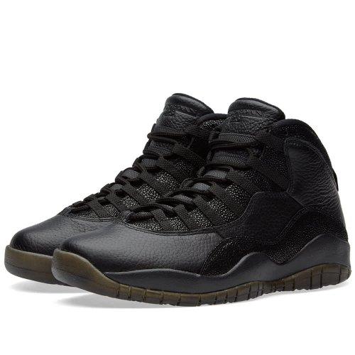 Shoes Hi top trainers Nike Air Jordan 10 x OVO Black Black/Black-Metallic Gold