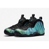 Shoes Hi top trainers Nike Air Foamposite One Northernlights Black/Green Glow-Fierce Purple