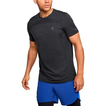 Clothing Men Short-sleeved t-shirts Under Armour Rush HG Seamless Fitted Graphite