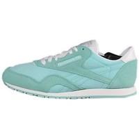 Shoes Women Low top trainers Reebok Sport CL Nylon Slim Pigme White, Green