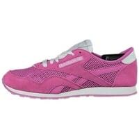 Shoes Women Fitness / Training Reebok Sport CL Nylon Slim Pigment White, Pink