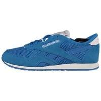 Shoes Women Fitness / Training Reebok Sport CL Nylon Slim Pigment White, Blue