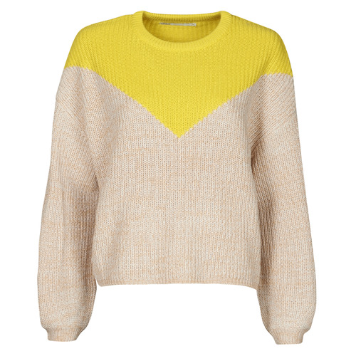 Clothing Women Jumpers Only ONLSOOKIE Beige / Yellow