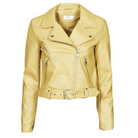 Clothing Women Leather jackets / Imitation leather Only ONLVALERIE Yellow