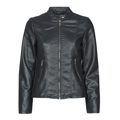 Clothing Women Leather jackets / Imitation leather Only ONLMELISA Black