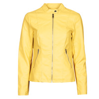 Clothing Women Leather jackets / Imitation leather Only ONLMELISA Yellow