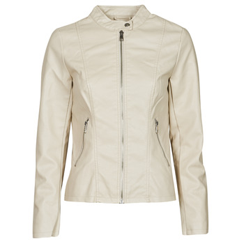 Clothing Women Leather jackets / Imitation leather Only ONLMELISA Beige