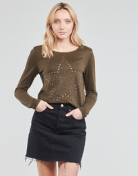 Clothing Women Tops / Blouses JDY JDYSARA TONSY L/S STUD TOP Brown