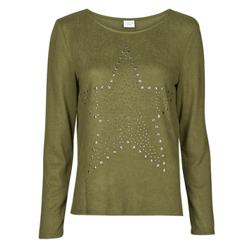 Clothing Women Tops / Blouses JDY JDYSARA TONSY L/S STUD TOP Kaki