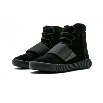 Shoes Hi top trainers adidas Originals Yeezy Boost 750 Triple Black Charcoal Black