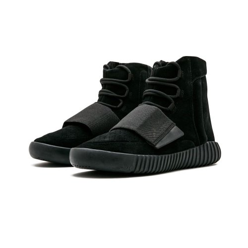 Shoes Hi top trainers adidas Originals Yeezy Boost 750 Triple Black Charcoal Black