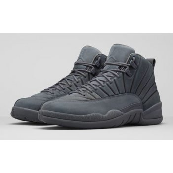 Shoes Hi top trainers Nike Air Jordan 12 PSNY Grey Dark Grey/Dark Grey-Black
