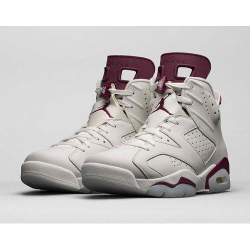Shoes Hi top trainers Nike Air Jordan 6 Maroon Off-White/New Maroon