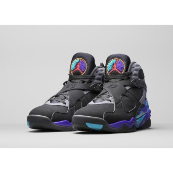 Shoes Hi top trainers Nike Air Jordan 8 Aqua 2015 Black/Bright Concord-Aqua Tone