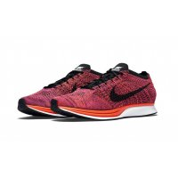 Shoes Low top trainers Nike Flyknit Racer Hyper Orange Black/Black-Hyper Orange-Vivid Purple