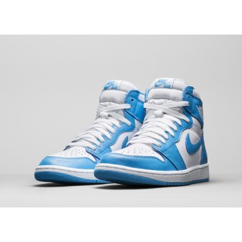 Shoes Hi top trainers Nike Air Jordan 1 High UNC White/Dark Powder Blue