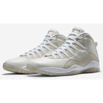 Shoes Hi top trainers Nike Air Jordan 10 x OVO White Summit White/Metallic Gold-White