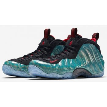 Shoes Hi top trainers Nike Air Foamposite One Gone Fishing Dark Emerald/Challenge Red-Black