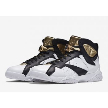 Shoes Hi top trainers Nike Air Jordan 7 Championship White White/Metallic Gold-Black