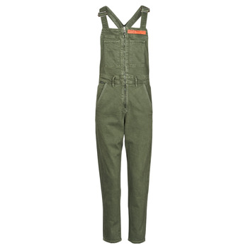 Clothing Women Jumpsuits / Dungarees G-Star Raw SLIM DUNGAREE WMN Kaki
