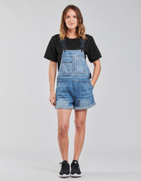 Clothing Women Jumpsuits / Dungarees G-Star Raw UTILITY BF SHORT OVERALL WMN Blue