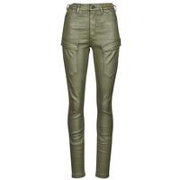 Clothing Women Cargo trousers G-Star Raw HIGH G-SHAPE CARGO SKINNY PANT WMN Kaki