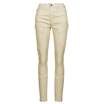 Clothing Women Cargo trousers G-Star Raw HIGH G-SHAPE CARGO SKINNY PANT WMN Beige