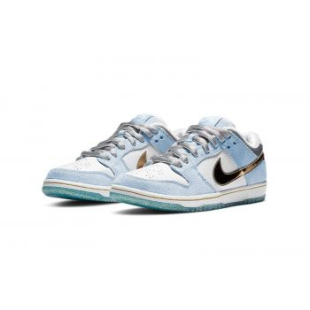 Shoes Low top trainers Nike Sb Dunk Low x Sean Cliver White/Psychic Blue/Metallic Gold